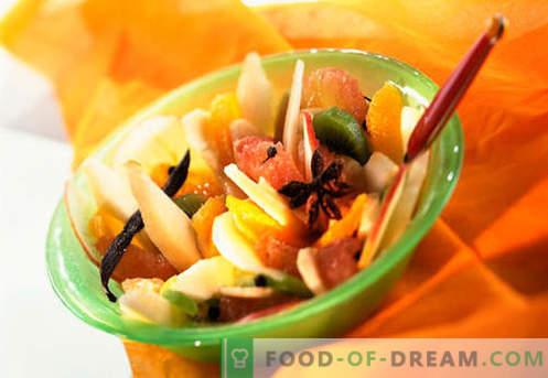 Saladas doces - receitas comprovadas. Como preparar saladas doces.