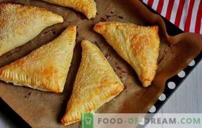 Sopro com queijo cottage: doce, salgado, no forno e em uma frigideira. Receitas para massa folhada diferente com queijo cottage