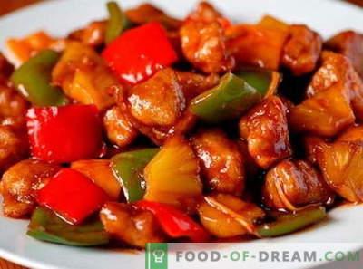 Carne de porco em molho agridoce - as melhores receitas. Como corretamente e saboroso cozinhar carne de porco em molho agridoce.