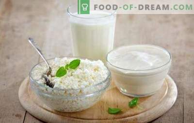 Um produto útil é o queijo cottage feito com leite e kefir em casa. Todos os segredos de cozinhar queijo caseiro de leite e kefir