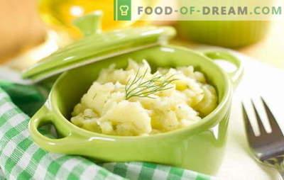 Uma guarnição simples e versátil - purê de batatas com leite. Purê de batatas com leite, como um prato independente