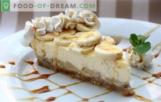 Cheesecake alla banana - Royal Dessert! Ricette di vera cheesecake alla banana da formaggio e ricotta: con cottura al forno e senza cottura