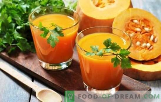 Suco de abóbora com laranjas para o inverno - uma carga de vitamina! Receitas de suco de abóbora com laranjas para o clima ensolarado