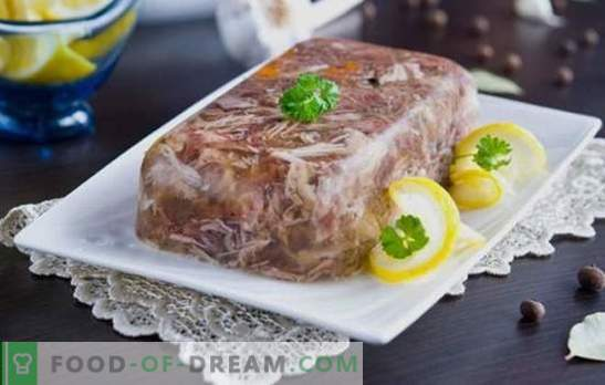Najlepsze i sprawdzone receptury galarety z wieprzowiny i wołowiny. Tajemnice gotowania pysznej galaretki z wieprzowiny z wołowiną