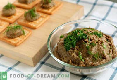 Patê de fígado de vaca - as melhores receitas. Como corretamente e saboroso cozinheiro patê de fígado de bovino.