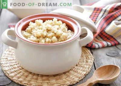 Mingau de trigo - as melhores receitas. Como cozinhar mingau de trigo.