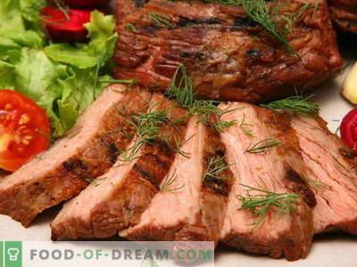 Carne assada no forno - as melhores receitas. Como corretamente e saboroso cozinhar carne no forno.