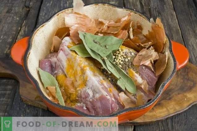 Presunto de carne de porco caseiro rápido e saboroso