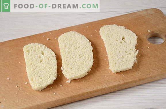 Snack rápido de pão com salsicha e queijo. Isso você não tentou!