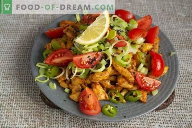 Salada dietética com frango sem maionese