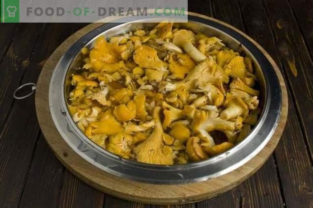 Sopa de cogumelos com chanterelles