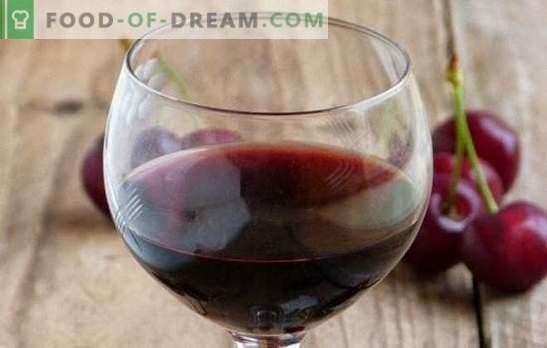 Vinho de cereja em casa: os principais pontos da culinária do vinho. Receitas de vinhos caseiros de cereja