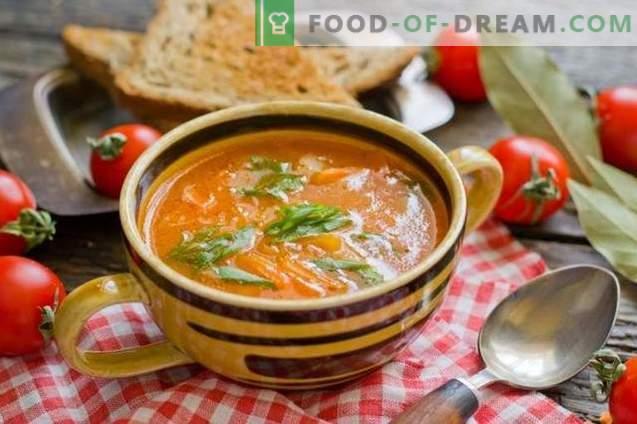 Soupe de tomates aux pommes de terre