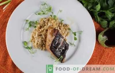 O filé de peixe-gato no forno é uma adição saborosa e saudável ao acompanhamento. Como cozinhar bife no forno com legumes, arroz, alho