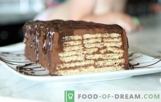 Um bolo sem assar biscoitos e leite condensado - em minutos! Como fazer um bolo a partir de biscoitos e leite condensado sem fermento