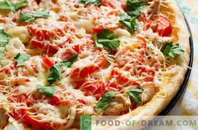 Pizza de frango - as melhores receitas. Como corretamente e saboroso cozinhar pizza com frango.