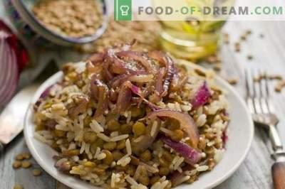 Mudjadara - rice with lentils