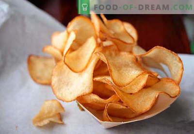 Chips caseiros - os melhores métodos de cozimento. Como cozinhar batatas fritas em casa.