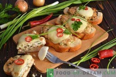 Sandwiches with chicken cutlet and mozzarella cheese baked in the oven