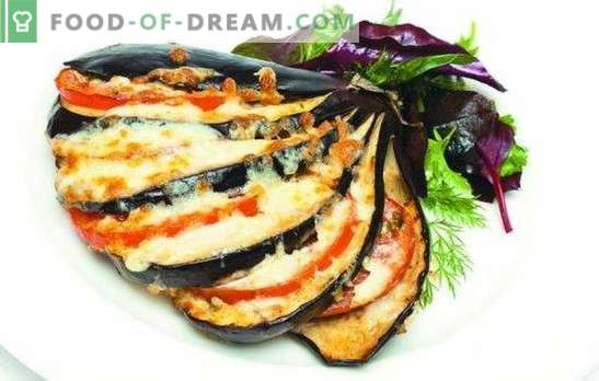 Métodos de cozimento de berinjela com queijo e alho. Berinjela com queijo e alho não é apenas um lanche, mas também um prato lateral