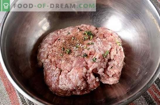 Costeletas picadas: macia, suculenta, com uma crosta crocante. Receita de foto passo a passo do autor para costeletas de carne picada, fritas em uma panela em pão ralado