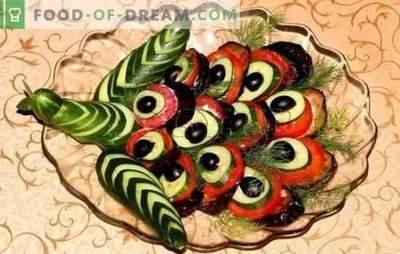 Aperitivo de cauda de pavão: uma apresentação espetacular de um prato simples. Opções para lanches