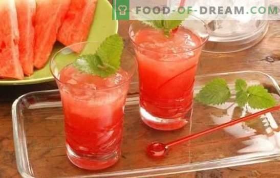 Cocktails de melancia - bebidas refrescantes para festas e relaxamento. Receitas para cocktails de melancia não alcoólicos e alcoólicos