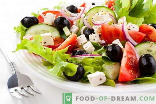 Salada grega - as melhores receitas. Como cozinhar corretamente e saboroso salada grega