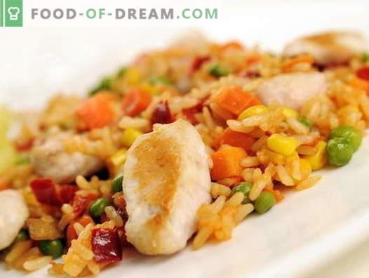 Frango pilaf em um fogão lento - as melhores receitas. Como corretamente e saboroso cozinhar frango pilaf em um fogão lento.