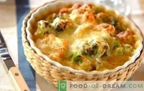 Frango com couve-flor no forno é ótimo! Receitas saudáveis e saborosos pratos de frango com couve-flor no forno