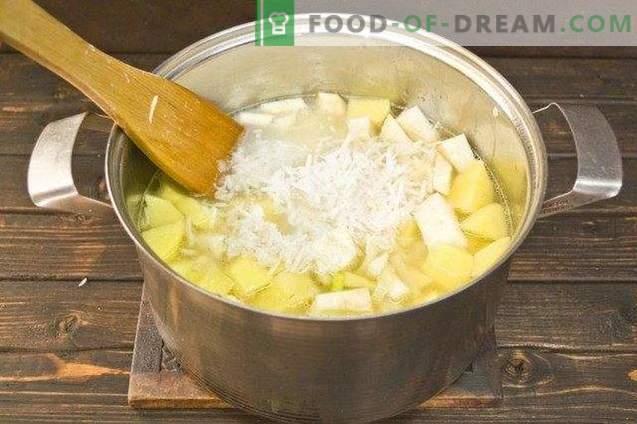 Sopa Creme de Coco com Espinafre