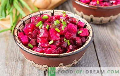 Vinagrete com batatas: salada russa ou molho ao estilo europeu? Idéias para vinagrettes de salada todos os dias e festivos com batatas