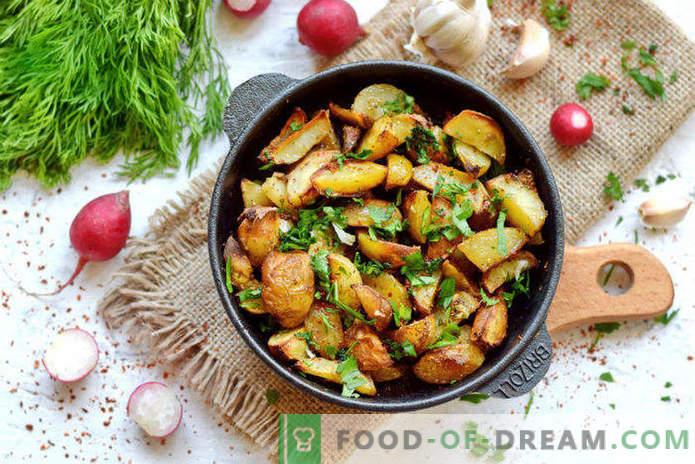 Batatas novas no forno, uma receita para o estilo da vila