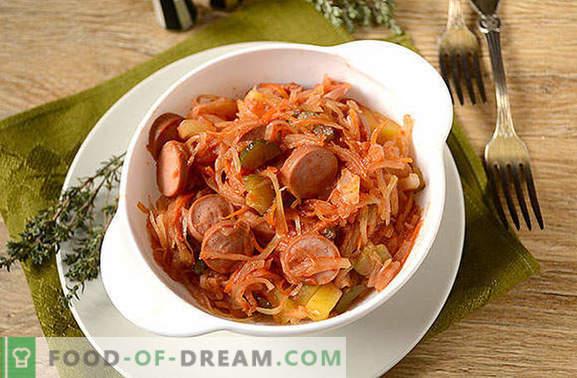 Solyanka de chucrute com mamilos: uma refeição rápida e saudável. Receita de foto passo a passo do autor para sopas de chucrute com salsichas e picles