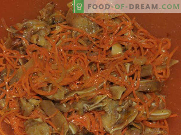 Korean carrot, recipes at home with chicken, with ready seasoning, for the winter