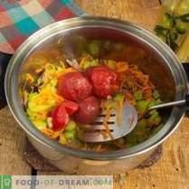 Sopa de repolho vermelho vegetariano saudável