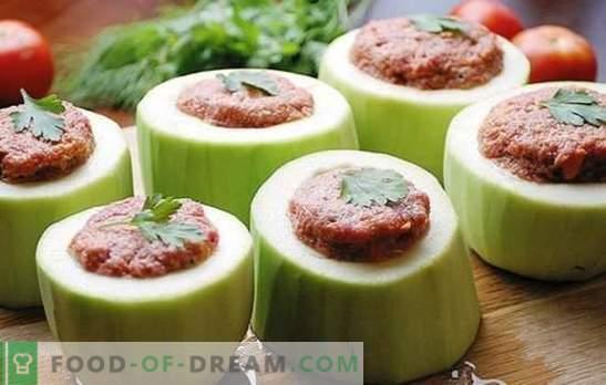 Abobrinha recheada em um fogão lento - tudo é possível! Receitas recheadas abobrinha em um fogão lento: com legumes, cereais, carne