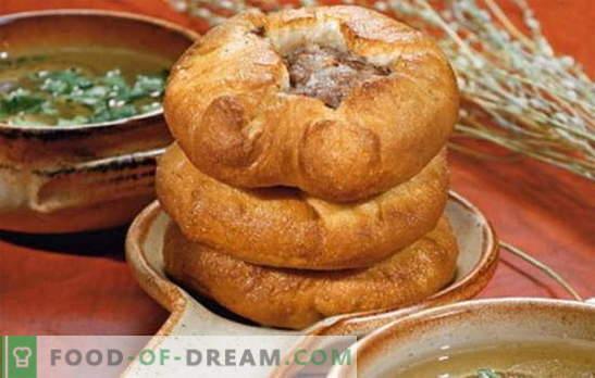 Levedura belyashi - um verdadeiro prato tártaro? Receitas de brancos fragrantes e suculentos em levedura com diferentes recheios