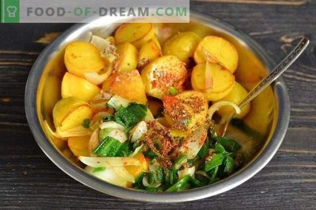 Пржени млади компири во индиски зачини