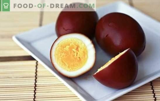 Ovos defumados - o lanche original de um produto simples. Ovos defumados em casa e receitas com eles