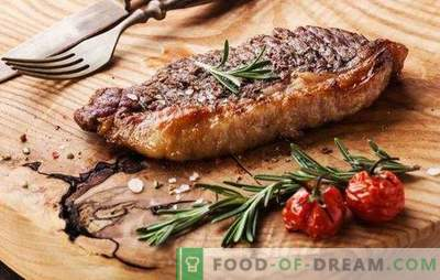 Bife no forno - para verdadeiros amantes de carne. Como preparar um bife delicioso e suculento no forno