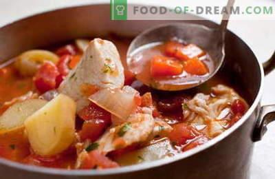 Caldeirada de peixe - as melhores receitas. Como corretamente e saboroso ensopado de peixe cozinhar.