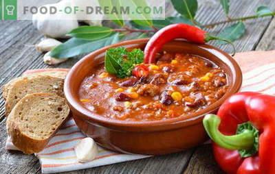Sopa mexicana - o jantar será original! Receitas de diferentes sopas mexicanas: com milho, feijão, carne picada, frango, arroz