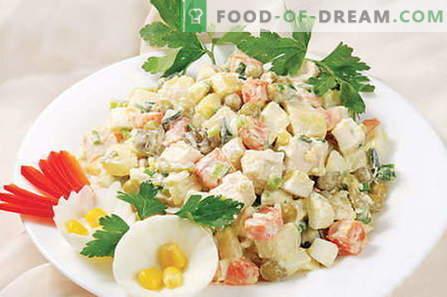Salada Capital - as melhores receitas. Como corretamente e deliciosamente cozinhar salada Capital.