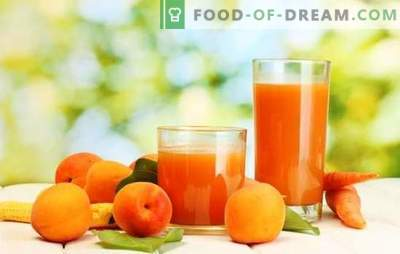Suco de damasco para o inverno - bebida ensolarada! Diferentes formas de colheita de suco de damasco para o inverno em casa