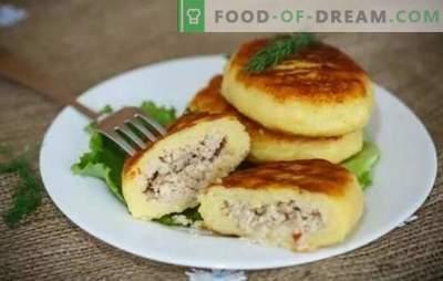 Batata Zrazy: receitas passo-a-passo de costeletas ou tortas coradas? Todos os segredos, cozimento e recheio para batata zraz (passo a passo)