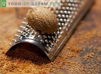 Nutmeg - properties and use in cooking. Recipes with nutmeg.