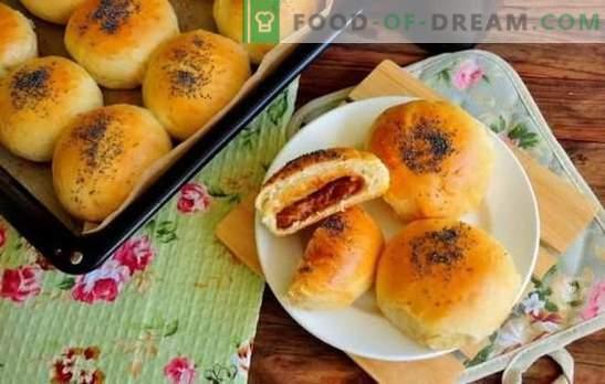 Pãezinhos com leite condensado - é dedicado aos doces. Os pães mais saborosos com leite condensado na água, iogurte, levedura