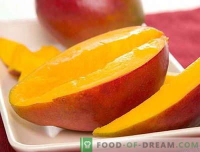 Mango - описание, полезни свойства, използване при готвене. Рецепти с манго.