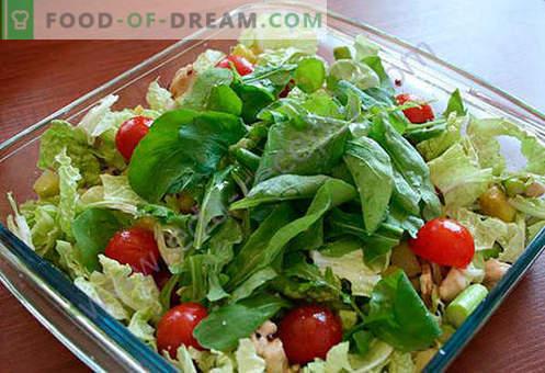 Salada com espargos - uma seleção das melhores receitas. Como corretamente e saboroso para cozinhar uma salada com espargos.